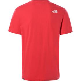 The North Face Simple Dome Maglietta a maniche corte Uomo, rococco red